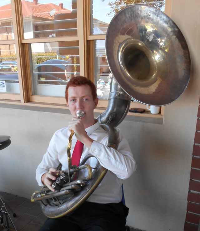 Greg Chilcott sousaphone