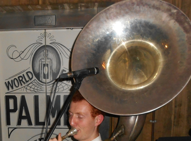The huge bell of the mighty sousaphone.