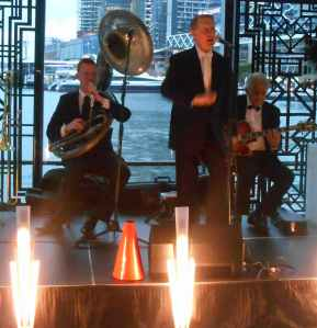 Sydney's Great Gatsby Trio - Greg Poppleton and the Bakelite Broadcasters - play for corporate events, weddings and parties.