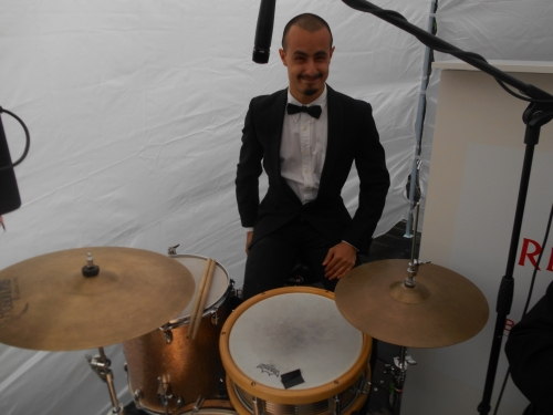 Alex Inman-Hislop is one of the hottest traditional jazz and swing drummers in Sydney. He also plays in heavy metal and avantgarde jazz bands.