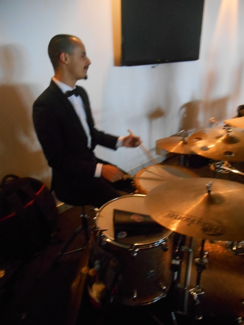 Alex Inman-Hislop on the drums.