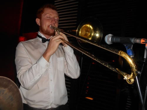 ...and doubling trombone