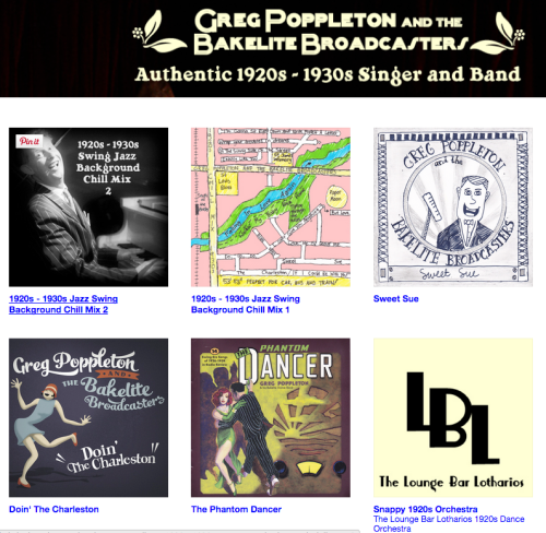The Greg Poppleton and the Bakelite Broadcasters CD and downloads catalogue at Bandcamp.
