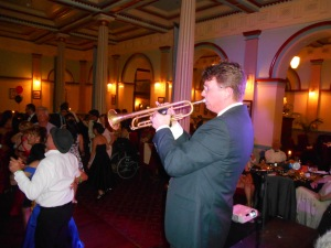 Geoff Power, trumpet (pictured) and doubling on sousaphone