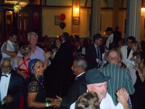 Dancing to 1930s swing by Greg Poppleton and the Bakelite Broadcasters