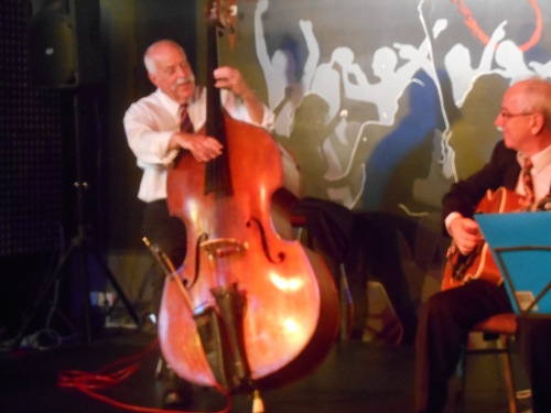 Darcy Wright soloing 'Sweet Georgia Brown' on double bass