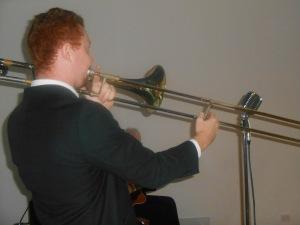 Greg Chilcott on the trombone and...