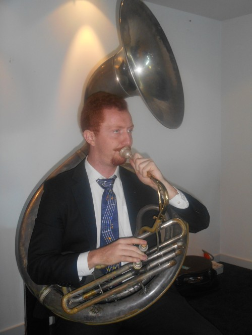 ...on the sousaphone.