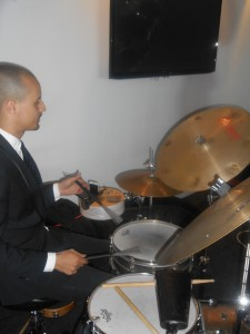 Alex Inman-Hislop on the drums