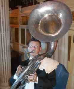 And Geoff Power also played the booming sousaphone.