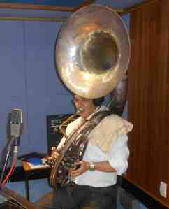 Geoff Power sousaphone, trumpet and trombone. ARIA nominee and 10 U.S jazz tours under his belt.