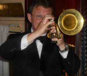 Geoff Power on his golden trumpet