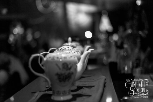 Is that Prohibition Gin in those ornately beautiful china teapots?
