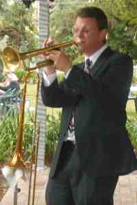 Geoff Power played trumpet and doubled on the trombone.