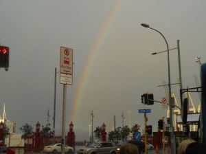 A rainbow at Auckland harbour