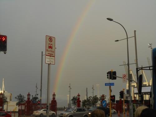A rainbow at Auckland harbour
