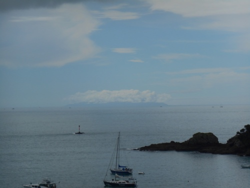 Is this mysterious cloud shrouded island on the horizon Little Barrier Island?
