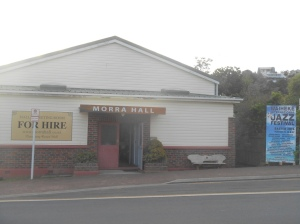Arriving at Morra Hall for the soundcheck