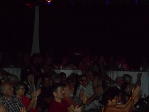 The Artworks Theatre audience as Greg Poppleton and the Bakelite Broadcasters play.