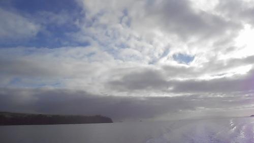 The wake of the Waiheke Island ferry