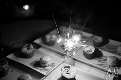 A sparkling dessert. A three course dinner is included in the ticket price.
