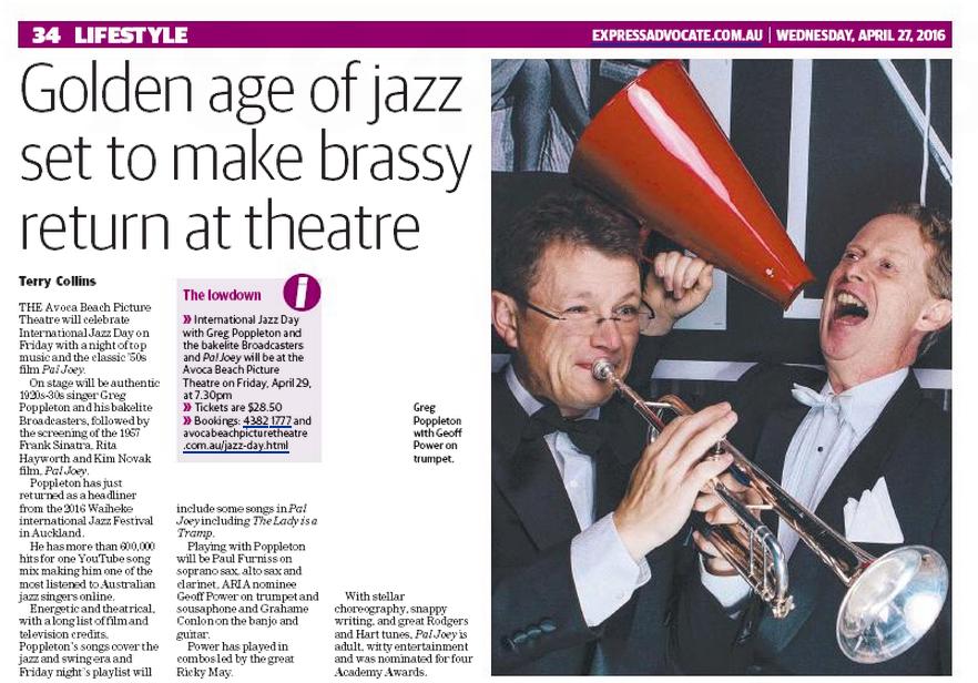 Greg Poppleton 1920s Band International Jazz Day