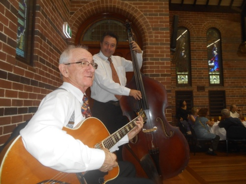 Grahame Conlon guitar and Stan Valacos acoustic double bass.