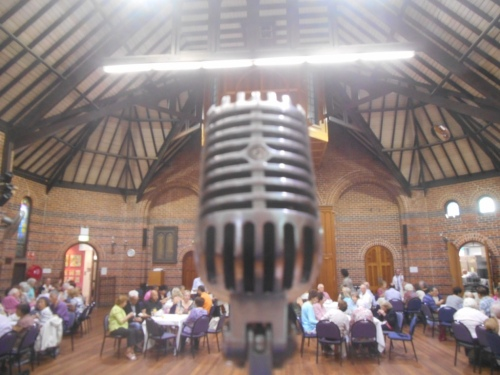 The Mosman Art Gallery dance hall seen around my vintage birdcage mic