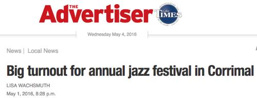 Illawarra Jazz Festival Newspaper Headline