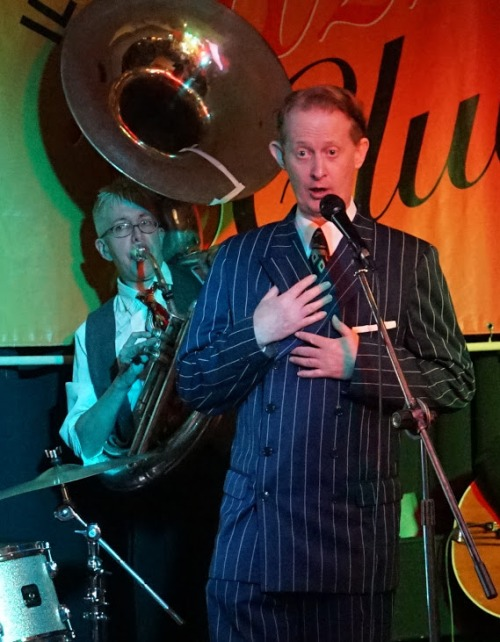 A heartfelt tune, no doubt. Greg Poppleton with Cazzbo Johns, sousaphone.