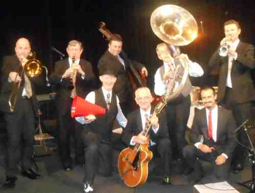 8-piece 1920s jazz band and singer