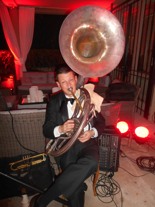 Geoff Power sousaphone and trumpet