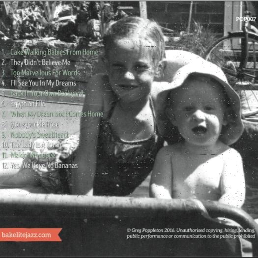 Greg Poppleton album back cover