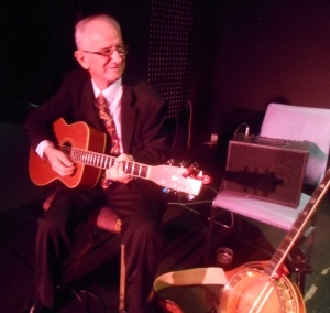 At the Builders Club, 16 Oct, in Greg Poppleton and the Bakelite Broadcasters - Grahame Conlon guitar and banjo.