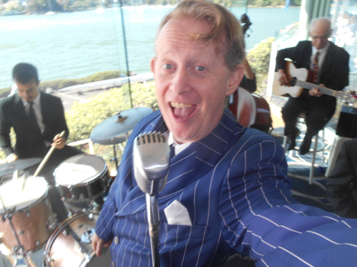 Greg Poppleton, Australia's only authentic 1920s - 1930s singer and band leader for Greg Poppleton and the Bakelite Broadcasters.