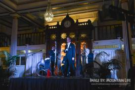 Greg Poppleton and the Bakelite Broadcasters at the 2016 Great Art Deco Ball, Blue Mountains 1920s Festival