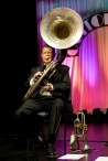 Geoff Power sousaphone: Greg Poppleton and the Bakelite Broadcasters Photo: MOBILE NO. 0425292809 EMAIL: michael@hennos.com