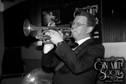 Geoff Power from the Bakelite Broadcasters on the hot cornet.