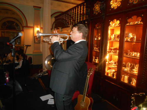 Geoff Power solos on the cornet