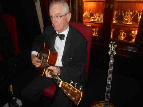 Grahame Conlon on the same Spanish guitar he used on the band's album, Back In Your Own Backyard, playing Sweet Lorraine.