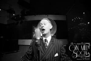 Your authentic 1920s-30s singer, Greg Poppleton, leading The Bakelite Broadcasters