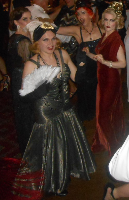Vintage Squad dancing to Greg Poppleton and the Bakelite Broadcasters at the Great Art Deco Ball