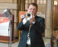 Geoff Power with Greg Poppleton's band playing cornet