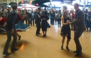 Swing dancers took the chance to dance to Somebody Loves Me