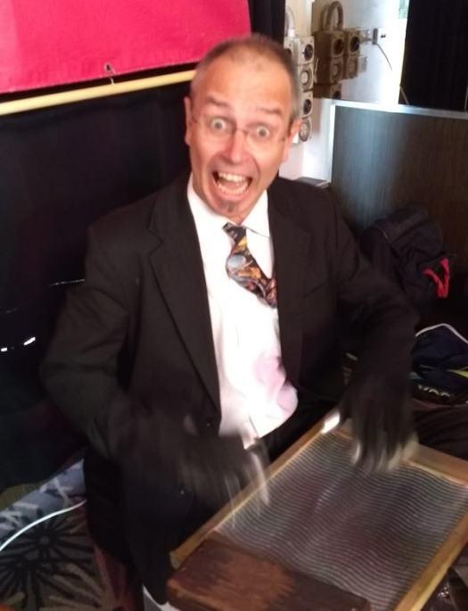 Adam Barnard on washboard