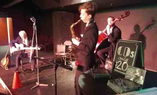 Damon Poppleton, alto sax, with Greg Poppleton 1920s - 1930s jazz band