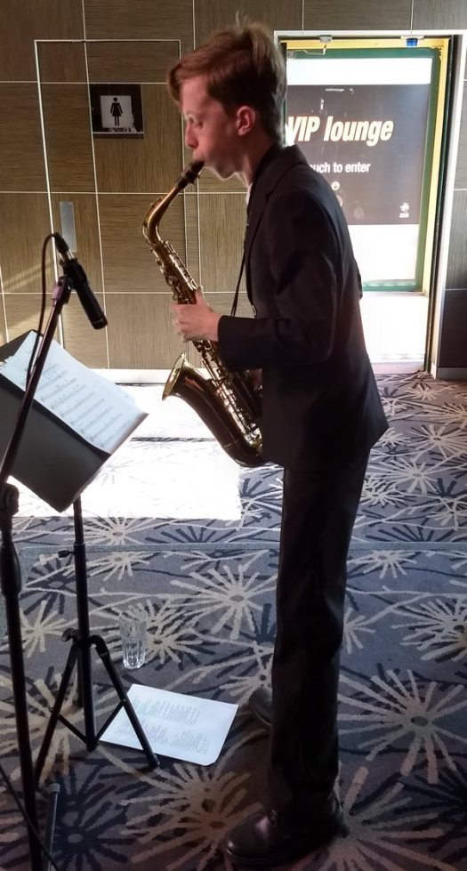 Damon Poppleton, alto sax