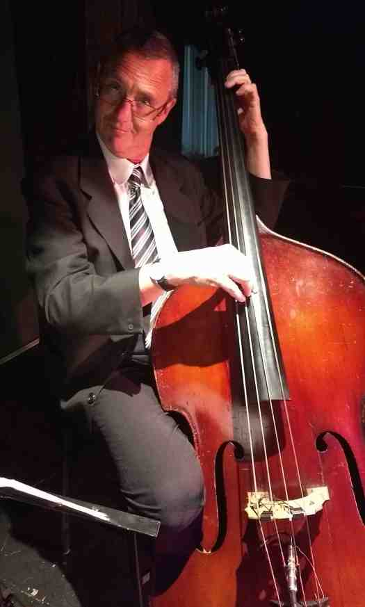 Dave Clayton, double bass, Greg Poppleton 1920s - 1930s jazz swing band