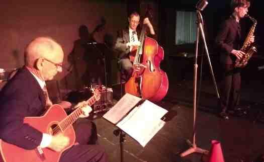 Grahame Conlon, guitar doubling banjo, Greg Poppleton 1920s - 1930s jazz swing band