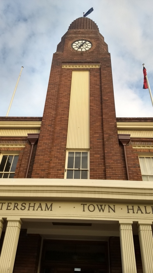 The concert was held in the majestic Art Deco Petersham Town Hall in Sydney. Petersham Town Hall was built in 1937-38 in the Inter-War Stripped Classical Style. Similar buildings in the style include Finland's parliament house.